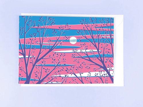 Evening Sky Card