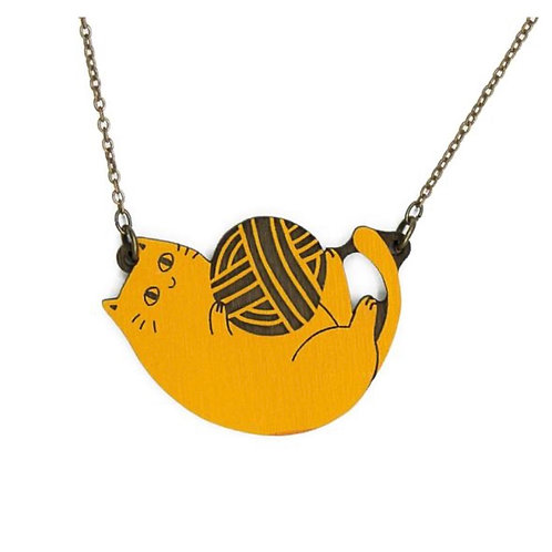 Playful Cat Ginger Necklace