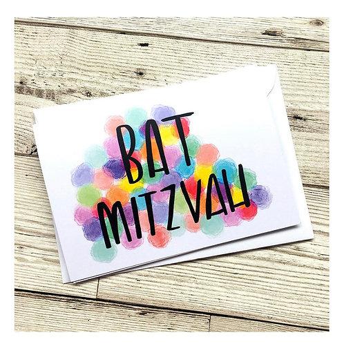 Bat Mitzvah, Card