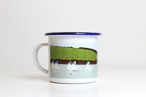 Seconds Boats enamel mug