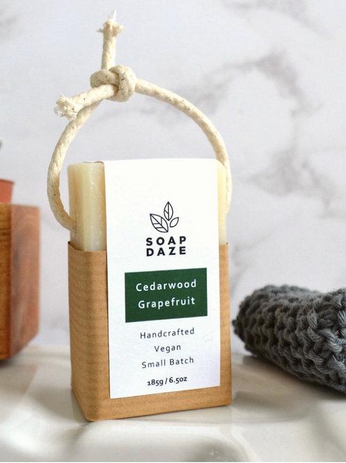 Cedar & Grapefruit Soap on a Rope