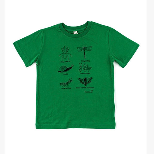Creepy crawly insects organic kids T-shirt