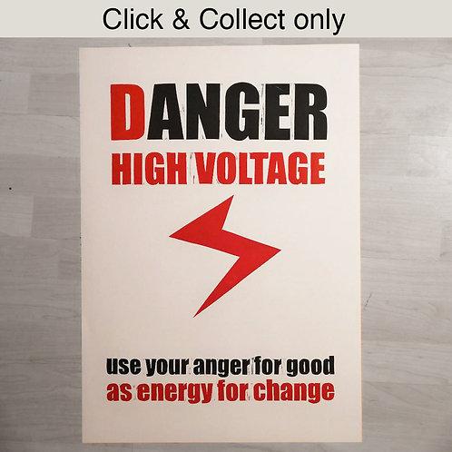 Danger High Voltage Print - A2
