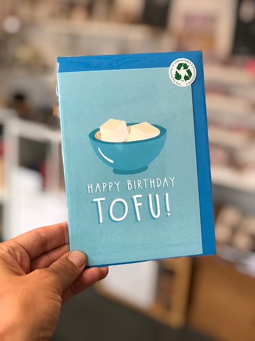 Happy Birthday Tofu Card