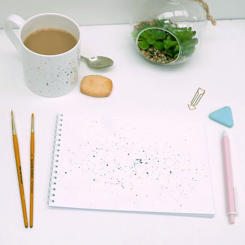 Paint Splatter Notebook