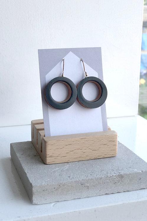 Black Small Hoop Earrings