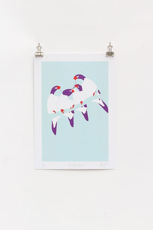 Four Calling Birds A4 Print