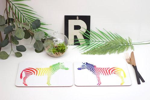 Rainbow Zebra Placemats
