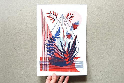 Terrarium Riso Print - A4