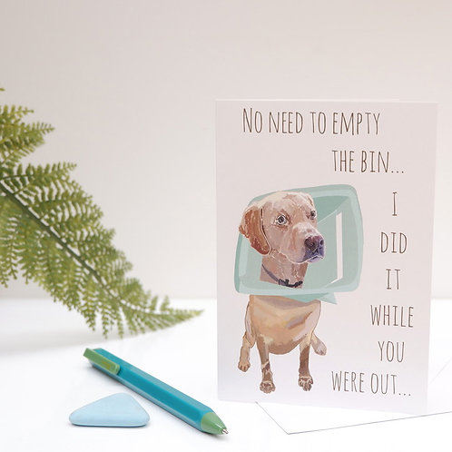 Naughty Dog Card