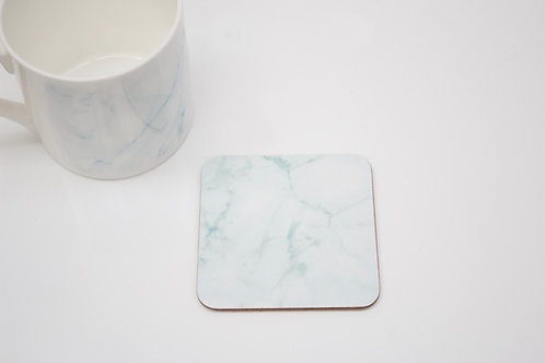Teal Marble Coaster