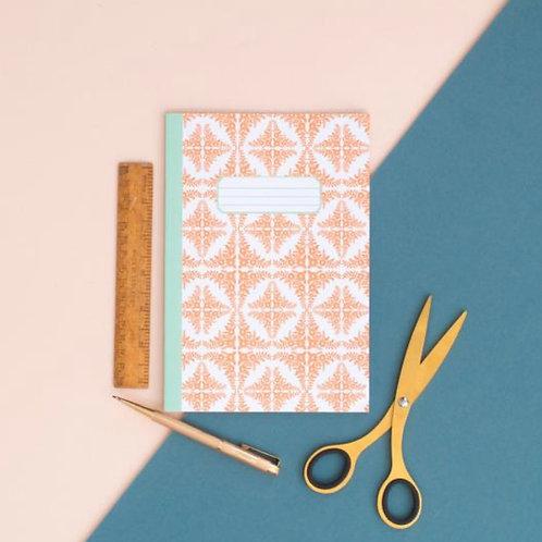 Orange Tile Pattern A5 Notebook