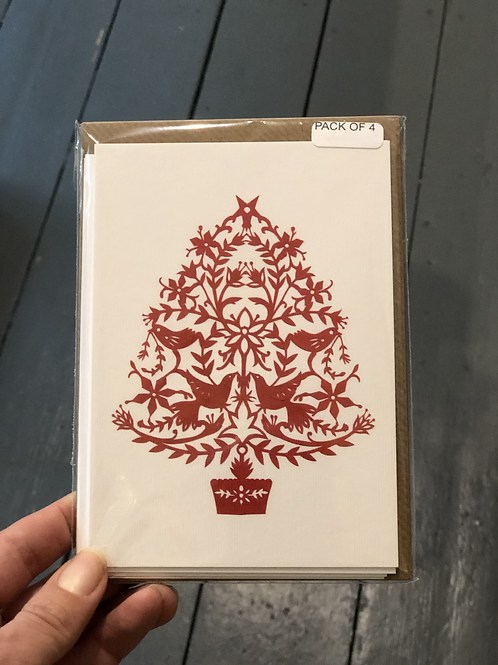 Christmas Tree pack of 4 cards