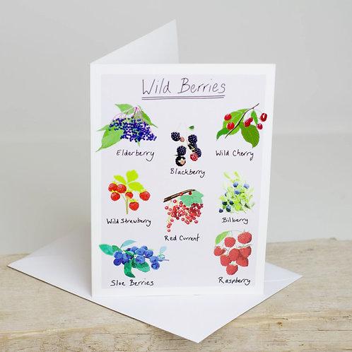 Wild Berries Greetings Card