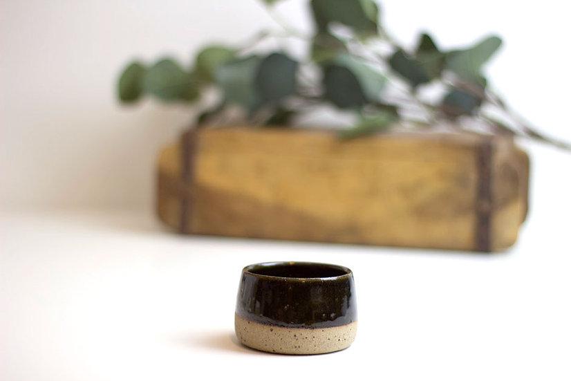 Handthrown Ceramic Espresso Cup - Black