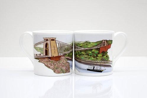 ss Great Britain under the Suspension Bridge Bone China Mug