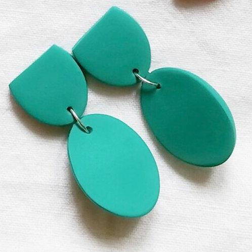 Green Dangle Earring