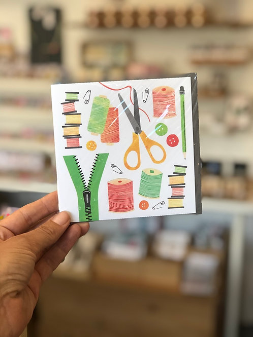 Sewing Kit Greetings Card