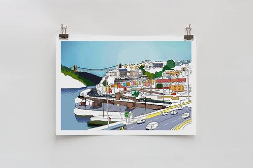 Bristol Views Digital A4 Print