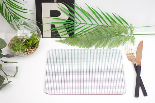 Monochrome Grid Placemat