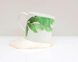 Banana Leaf Bone China Mug