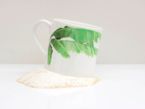 Banana Leaf Bone China Mug
