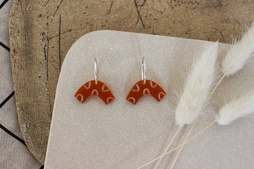 Curve Earrings - Tangerine