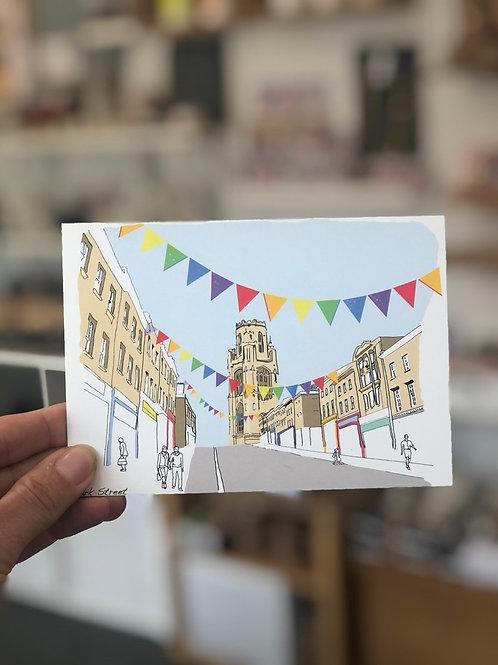 Colourful Park Street Postcard