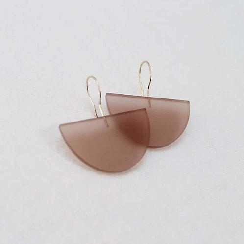 Semi Circle Drop Earrings - Natural