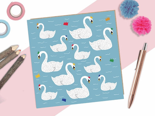Swans Party Card
