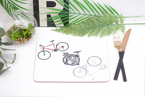 Three Bikes Placemat