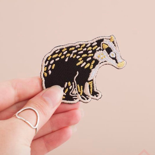 Badger Embroidered Iron-on Patch