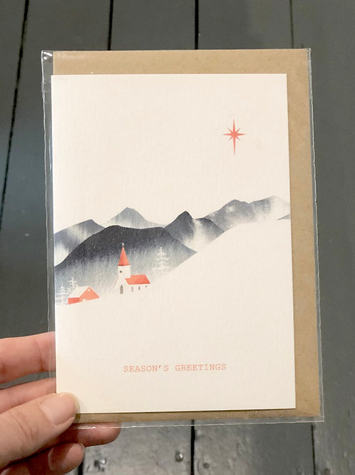 Norwegian Church, Seasons Greetings Card