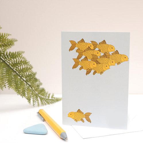 Underwater Anarchist Goldfish Card