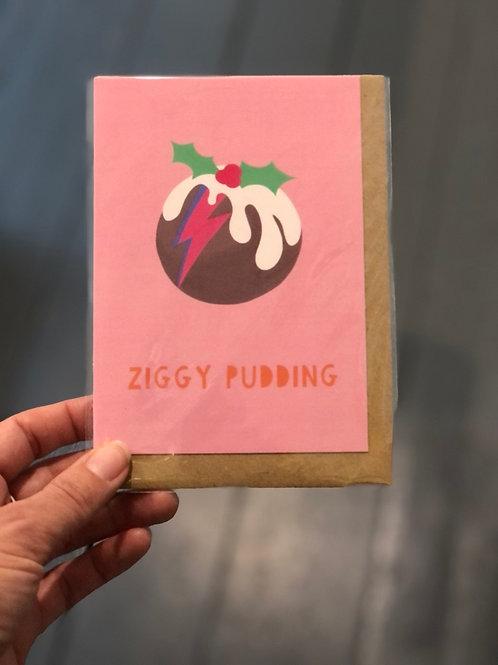 Ziggy Pudding Christmas Card