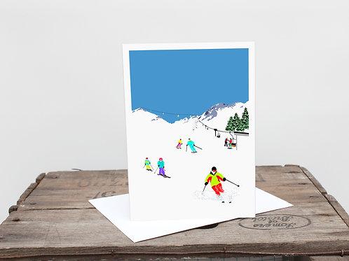 Weekend Explorer - Ski  Greetings Card