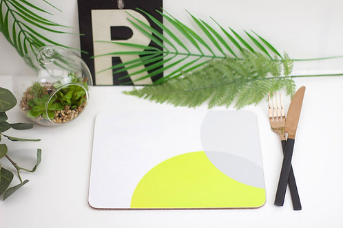 Lime|Grey Dip Placemat