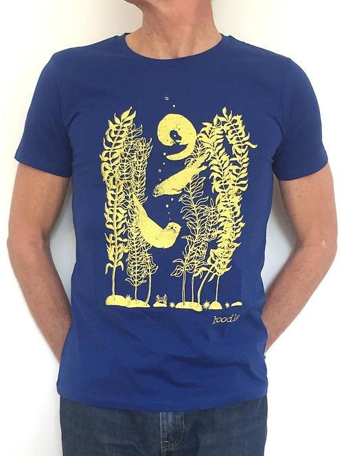 Otter and kelp mens organic T-shirt