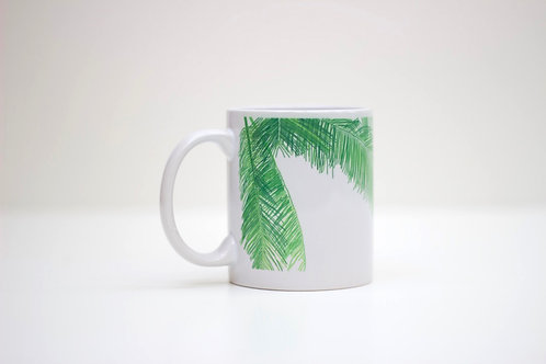 Palm Leaf Ceramic Mug