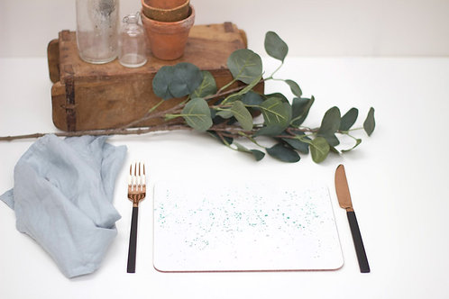 Teal Splatter Placemat