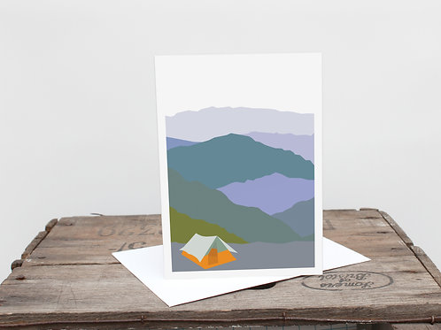 Weekend Explorer - Tent  Greetings Card