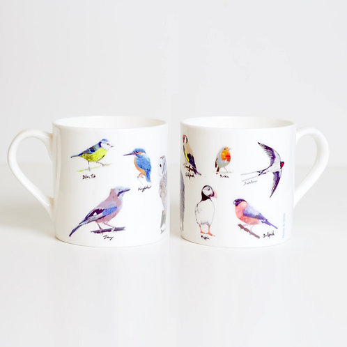 Garden Birds Bone China Mug