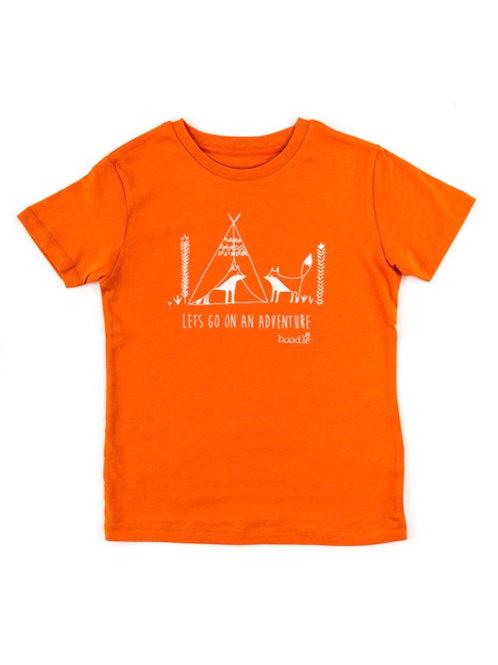 Lets go on adventure kids organic T-shirt
