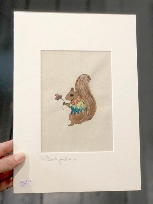 Squirrel Original Embroydery