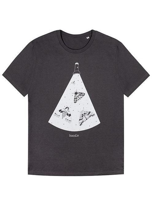 Men's Moths under tourchlight organic T-shirt