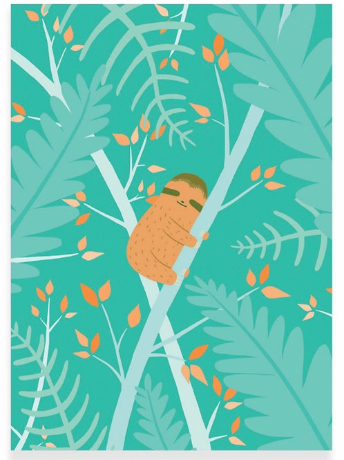 Sleepy Sloth Postcard