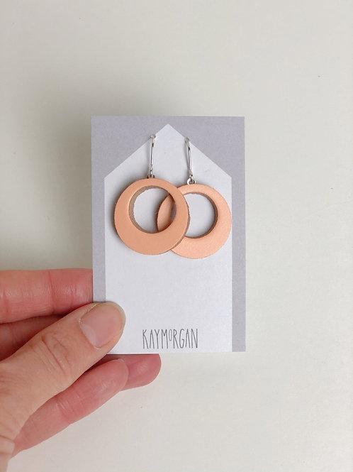 Small Hoop Earrings - Peach