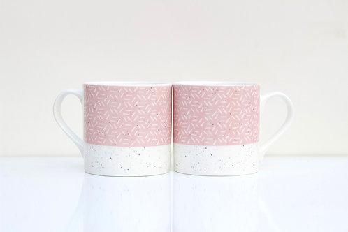 Sunset Sgraffito design Bone China Mug