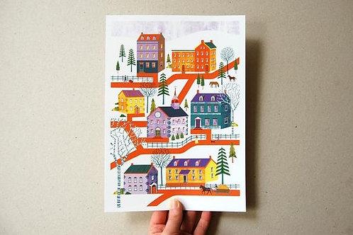 Pennsylvina Print - A4