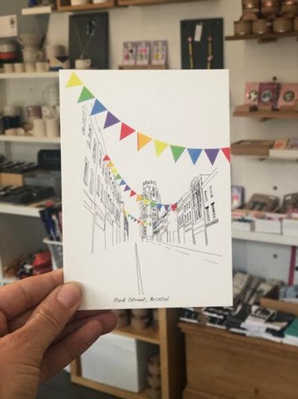 Minimal Park Street Postcard